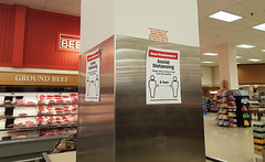 Social distancing Signs at Atlantic Superstore