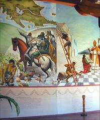 Peintures murales (musée du couvent San Francisco, Granada, Nicaragua)