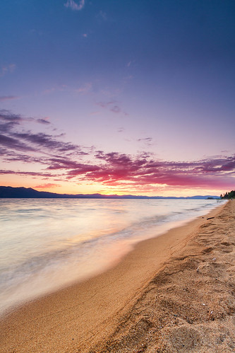 Sunset shoreline @ Lake Tahoe