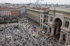 Piazza del Duomo @ Rooftops @ Duomo di Milano @ Milan
