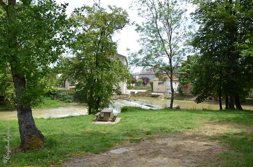 Au bord du Gers, le moulin