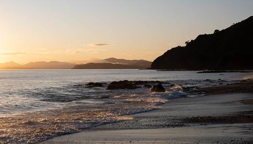 Sunrise over Oneroa Bay, Northland, New Zealand