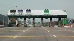 Delaware River toll plaza on Interstate 78