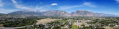 Wasatch Mountain Springtime panorama