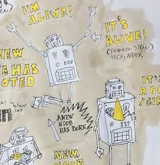 "Dat Robot: ""Am i alive!""   #datrobot #robot #ai #robotics #LoveThyRobot #geek #nerdcore #fashion l #nerd #RobotLove #RobotTakeOver #RobotArt #joostmarcellis"