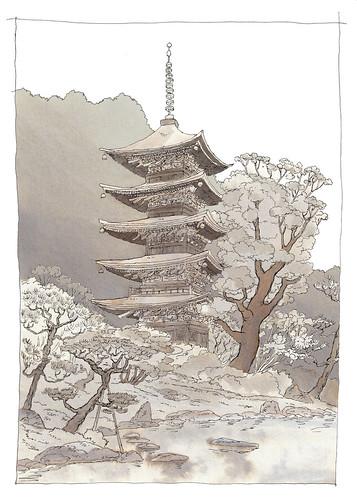 Japan, yamaguchi, Ruriko-ji pagoda