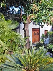 Jardin d'une maison de Granada (Nicaragua)