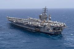 USS Dwight D. Eisenhower (CVN 69) transits the Arabian Sea.