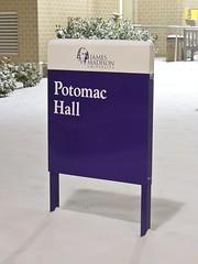Potomac Hall sign
