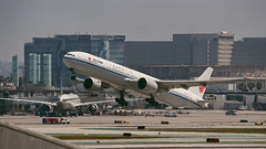 Air China Boeing 777 Departs LAX