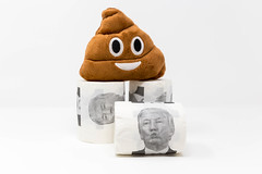 Fun- & Scherzgeschenk: Donald Trump Klopapier und Kothaufen-Emoji Plüsch Spielzeug