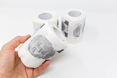 Gift or joke idea: presidential toilet roll with Donald Trump's face