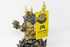 """Ragnaros Figur aus World of Warcraft mit """"Gaming in progress"""" Bitte nicht stören Türanhänger fürs Zocken"""