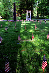 "Cincinnati - Spring Grove Cemetery & Arboretum ""Civil War Section - Flags"""