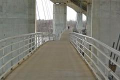 Pedestrian bridge to Belle Isle