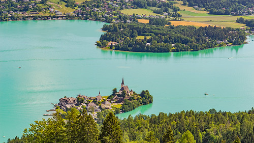 View from the Pyramidenkogel on Lake Wörthersee