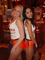Hooters girls at Norfolk Waterside