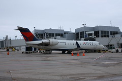 Delta N443SW Bombardier CRJ200 Green Bay - February 2020