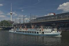 2018-08-12 DE Berlin-Mitte, Spree, Jannowitzbrücke, Berlin Jannowitzbrücke, Berliner Fernsehturm, Prenzlauer Berg 05604090