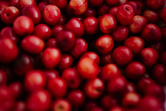 Beautiful red cherry texture.