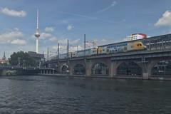 2018-08-12 DE Berlin-Mitte, Spree, Jannowitzbrücke, Berlin Jannowitzbrücke, Berliner Fernsehturm, ODEG