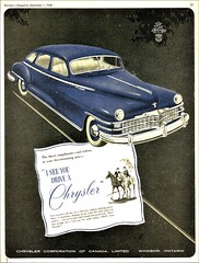 1948 Chrysler Sedan (Canadian Ad)