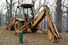 Backhoe at Mill Mountain Park [01]