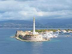 Italie, la Sicile, le Port de Messine