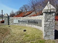 """Historic Gainsboro"" sign"