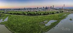 Dallas skyline from Trinity River levee