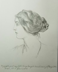 My graphite pencil copy this evening, June 17, 2020 of John Singer Sargent's charcoal drawing of Margaretta Drexel, 1911.IMG_20200617_220718_510