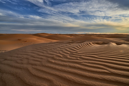 Beautiful Sunset at Imperial Sand Dunes, California