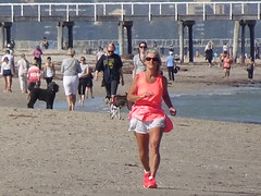 Beach Busy with COVID Walkers