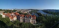 Panorámica de Praga desde el Vysehrad (República Checa)