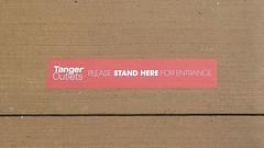 Tanger outdoor social distancing line