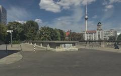 2018-08-12 DE Berlin-Mitte, Spreekanal, Roßstraßenbrücke, Berliner Fernsehturm
