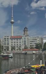 2018-08-12 DE Berlin-Mitte, Spree, Spreekanal, Berliner Fernsehturm, Schleuse Mühlendamm