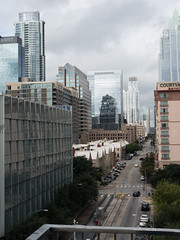 Looking down 4th street - Downtown Austin