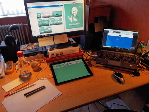 My setup for the digital graphic recording of the INFORM-INIO online meeting, June 2020