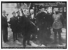 Skoropadski, der Hetmann der Ukraine mit seinen Offizieren (LOC)