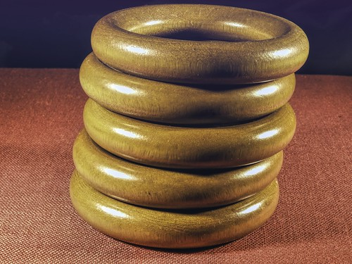 Five Wooden Rings