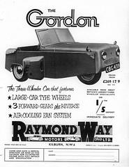 1954 Gordon Three-Wheeler