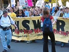 Anti-war protest, April 12, 2003