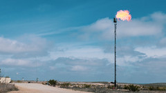 Natural Gas Flaring in West Texas Oil Field