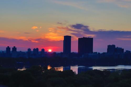 Summer is here, sunrise over the reservoir June 30th 2020