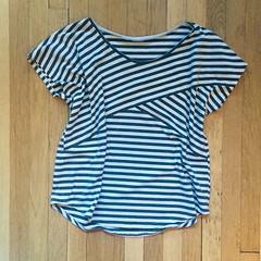 Stripe-Blocked T-Shirt
