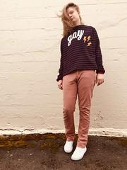 """GAY"" Funnel Neck Sweatshirt"