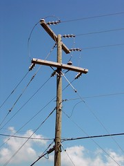 Utility pole at Skyline Parkway Motel