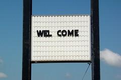 """WEL COME"" at Afton Howard Johnson's"