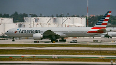 American 777 Rests at LAX